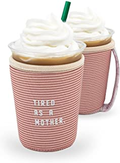GoCuff Reusable Iced Coffee Cup Insulator Sleeve with Handle for Beverages and Neoprene Holder for Starbucks, McCafe, Dunk...