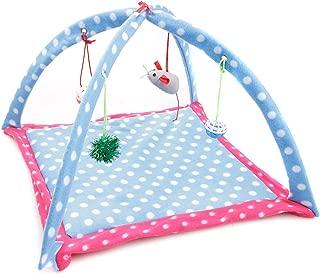 shine-hearty pet Hammock cat Breathable Green Cartoon Fun Bell Toy cat Tent
