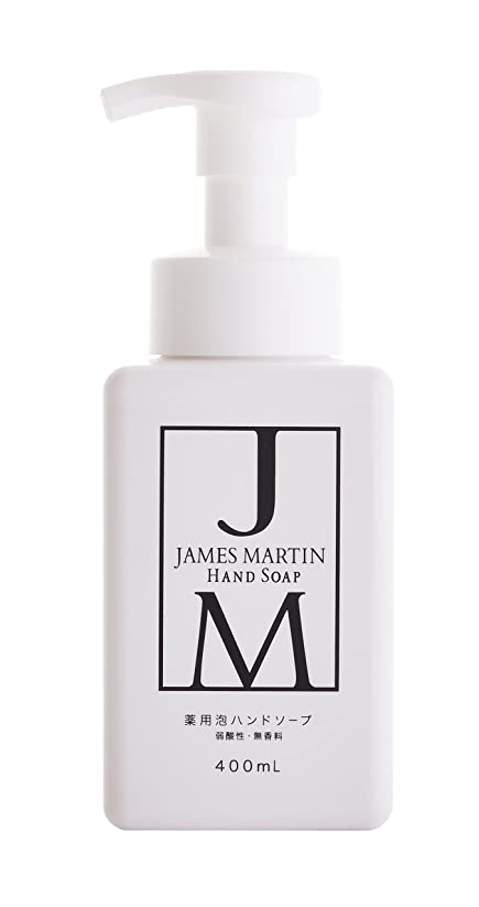 投資するつぶす雄弁なジェームズマーティン 薬用泡ハンドソープ 無香料 400ML