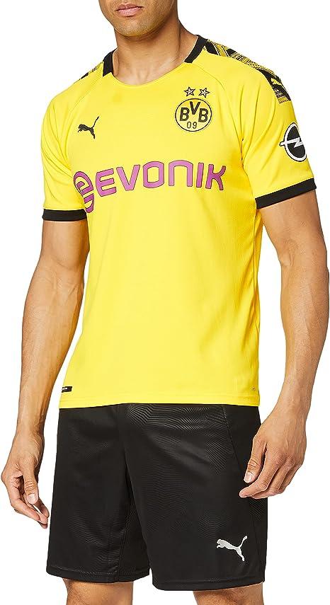 PUMA Maglia Ufficiale Stagione 19/20 Borussia Dortmund Home Replica Con Evonik Logo Con Opel Logo Maglia Calcio Uomo