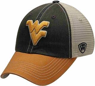 c7b05277717 West Virginia Mountaineers Top Of the World Navy Yellow Offroad Snapback Hat  Cap