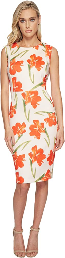 Calvin Klein Flower Print Sheath CD8M87EH