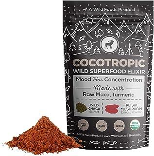 Wild Cocotropic Mushroom Drink Elixir with Cocoa, Reishi, Chaga Extract, Maca, Turmeric | Hot Nootropic Brain and Focus Mi...