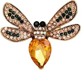 Mlouye Winter Brooch Pins Bird Bee Broaches for Women Girls Pineapple Dragonfly Animal Insect Brooches