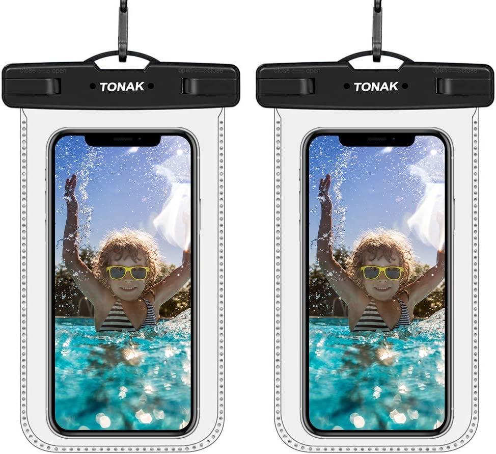 TONAK Universal Waterproof Phone Case Cell Phone Water Proof Pouch Dry Bags for iPhone 11 Pro Max XS Max XR X 8 7 6S Plus Samsung Galaxy s10/s9 Google Pixel Up to 6.8