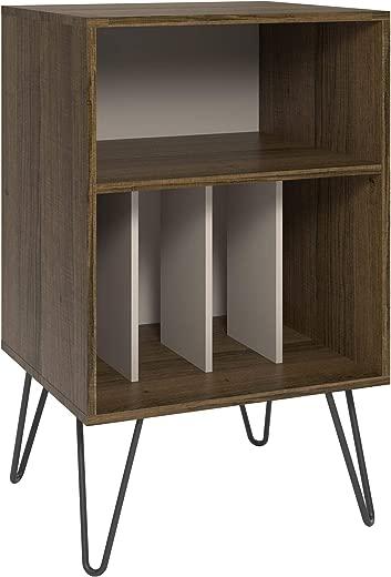 B07HFVKDG7✅Novogratz Concord Turntable Stand, Brown Oak