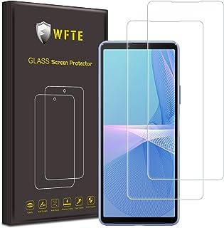 WFTE [2-pack] Skärmskydd för Sony Xperia 10 III 2021, anti-repor, hög transparens, anti-fingeravtryck, bubbelfri, dammfrit...