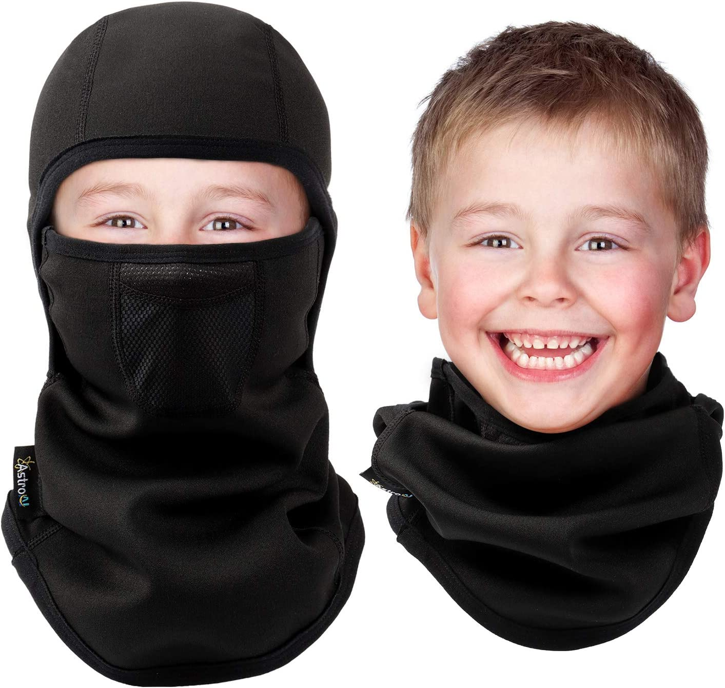 AstroAI Kids Balaclava Ski Mask Neck Warmer for Cold Weather Windproof Breathable Face Mask for Boys & Girls in Winter for Skiing, Running, Cycling: Automotive