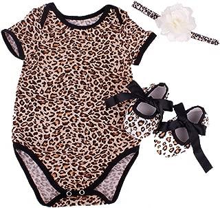 NPK collection Reborn Baby Doll Leopard Romper Clothes Set for 20-22 Inch Reborns Newborn Girl Dolls Bodysuit Toy
