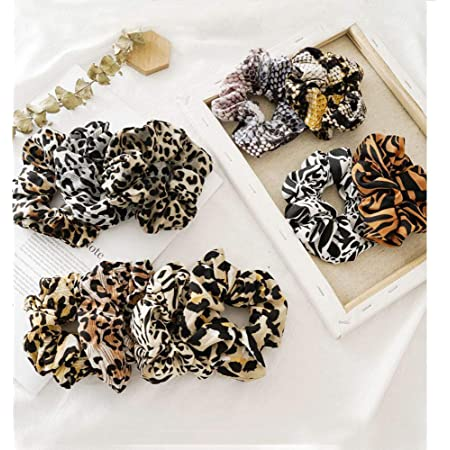 Animal print scarf Leopard scrunchies with ribbon Leopard for hair Animal Print scrunchies Hair Band Cheetah scrunchies Wild scrunchies