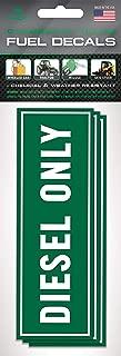Diesel Fuel Tank Stickers (3 Pack) 6 inch x 2 inch - Fuel Tank Stickers - Trucks, Big Machinery, Farm Equipment, Diesel Storage - Fuel Tank Signage to Prevent User Error   Extreme Adhesive