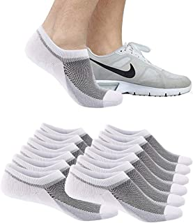 6 Pairs Mens Ankle Athletic Socks, Low Cut Breathable Running Socks,Comfort Sports Trainer Socks, Cotton Casual Non-Slip N...