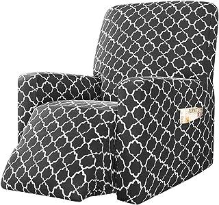 Nati elasticizzata colore: Grigio chiaro per divano con braccioli in jacquard Fodera per poltrona relax