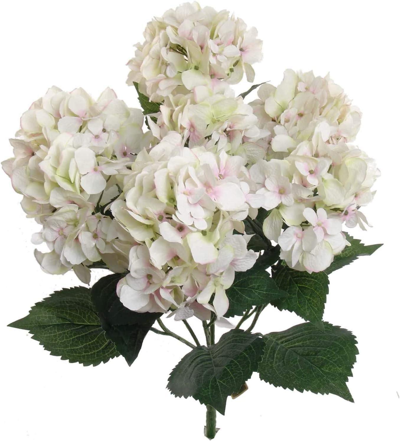 Hydrangea Silk Flower Max 45% OFF Bush Seven UV Per Resistant Heads Bargain