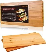 TRUSTTO Grillbretter, Zedernholzbrett zum Grillen, Räucherbretter aus Zedernholz hergestellt aus 100% natürlichem Red Zedernholz, Grillbretter BBQ 2er Set