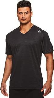 Men's V-Neck Workout Tee - Short Sleeve Gym & Training Activewear T Shirt