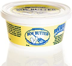 Boy Butter 4oz Tub Personal Lubricant | Natural Coconut Oil & Organic Silicone | Non Staining, Washable & Slick Lube for Adults | Original Formula Oil Based Cream Made in The USA