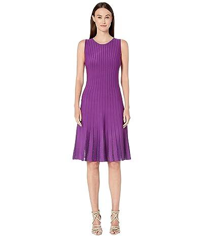 Zac Posen Embroidered Radiant Stripe Dress (Purple) Women