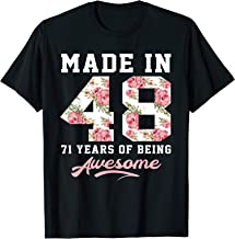 71 Years Old Women Born In 1948 71st Birthday Gift T-Shirt