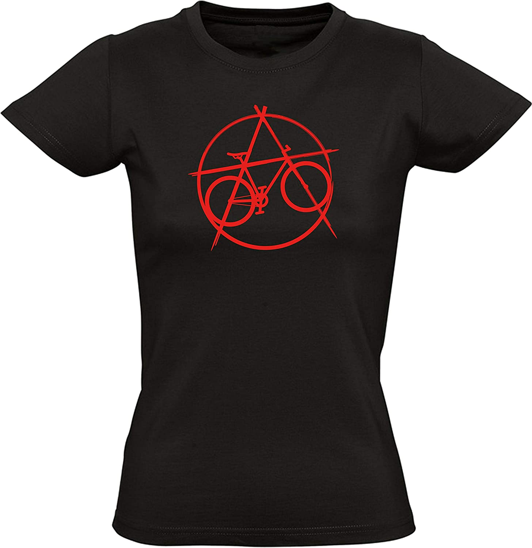 Camiseta para Damas: Bicicleta de Anarquía - T-Shirt Entallado - Regalo para Ciclista Bici BTT MTB BMX - Mountain-Bike - Downhill - Deporte - ...