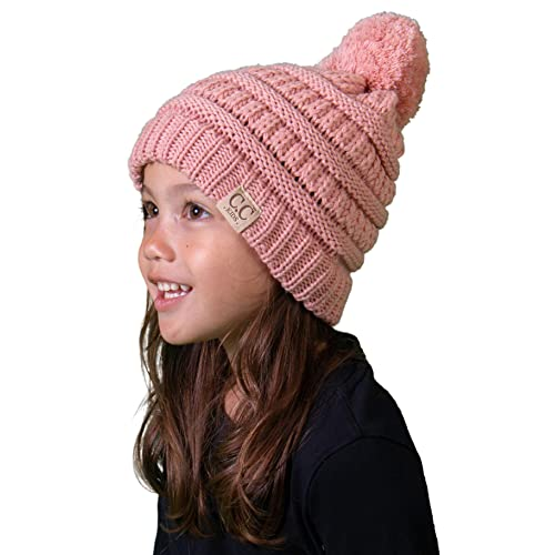 770afd0ded8 Funky Junque Kids Baby Toddler Cable Knit Children s Pom Winter Hat Beanie