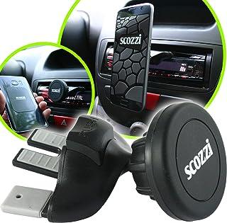 scozzi Handyhalterung Auto CD Schlitz Magnet Einschub Fach Handy KFZ Halterung Halter universal (kompatibel mit Huawei & Sony) P40 P30 P20 P8 Mate 30 20 X XS P Smart Y7 Y6s Y5 10 5 1 E5 Pro Plus Lite
