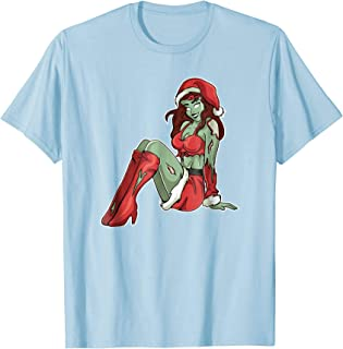 Christmas Zombie Pin Up Girl T-Shirt. Vintage Pajama Gift