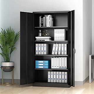 """Armoire de stockage de fichiers métalliques avec porte et étagères 72""""H armoire de rangement en acier verrouillable avec 4..."""