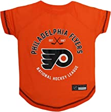 NHL Philadelphia Flyers Tee Shirt for Dogs & Cats, Small. - are You A Hockey Fan? Let Your Pet Be an NHL Fan Too!