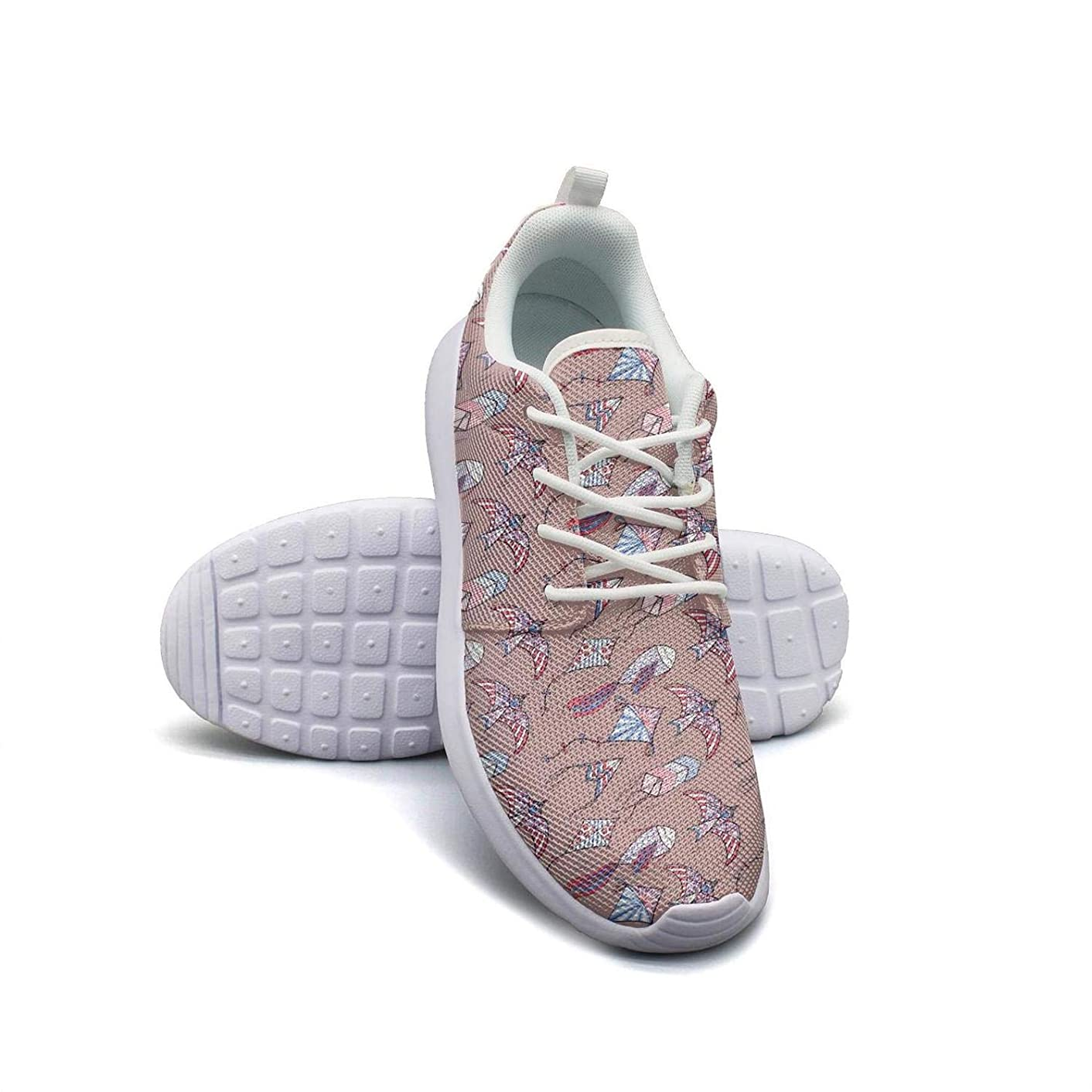 Tropical Leaves Green Pattern Red Flowers Canvas Sneakers for Women Cool Quick-Drying Mesh Trail Running Shoes