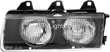 Fleetwood American Tradition 2004-2007 RV Motorhome Left (Driver) Replacement Headlight Head Light Front Lamp with Bulb