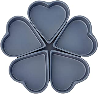 Fox Run 4460 Linked Heart Cake Pan, 4-Inch, Preferred Non-Stick