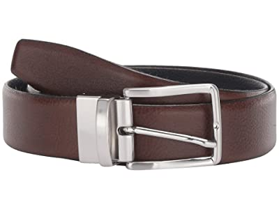 Torino Leather Co. 35 mm Italian Glazed Soft Reversible (Brown/Navy) Men