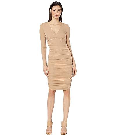 Bardot Lorena Stretch Dress (Light Gold) Women