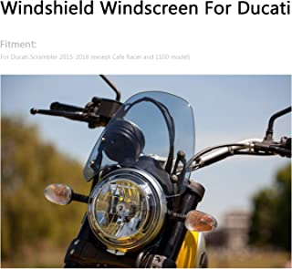 Mad Hornets Windshield Windscreen Wind Defector protection for Ducati Scrambler 2015-2018 Gray