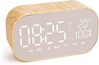 Sound Panda SNP-W8 LED Digital Clock with FM Radio and Bluetooth Speaker, Microphone, USB Charging, with Battery, Dual Ala...