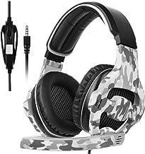 Auriculares con sonido en estéreo envolvente profesional, para juegos de ordenador, con micrófono, para PS4,Xbox 360, ordenador, MAC, iPhone, teléfonos inteligentes, de la marca Sades  SA810