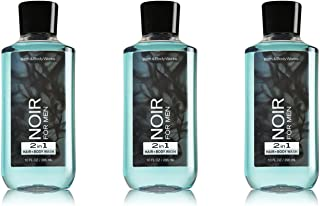 Lot of 3 Bath Body Works Noir for Men 10.0 Oz 2 in 1 Hair Body Wash