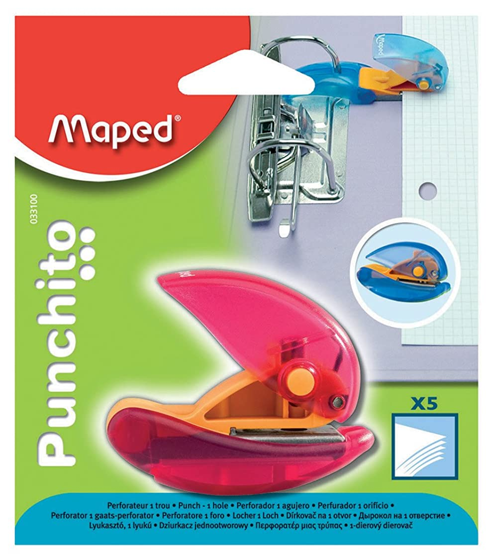 Maped Punchito 1 Hole Punch - Assorted Colours