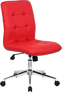 Boss Office Products B330-RD Mellennial Modern Home Office Chair without Arms in Red