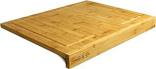 comprar comparacion Maison & White Tabla de cortar de bambú de borde contrario | Asegurar tabla de cortar de madera de cocina | 100% natural, ...