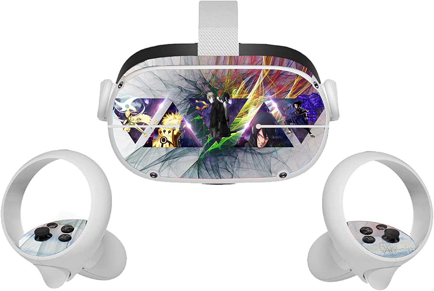 Oculus Quest II VR Headset Skin Sticker Uchiha Family Vinyl Decal for Headset and Controller