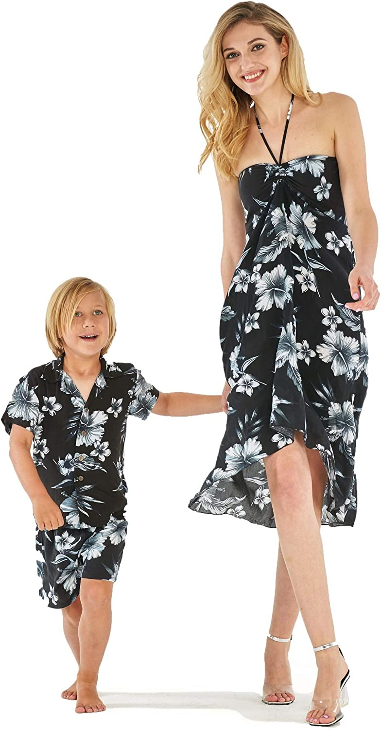 Matching Mother Son Hawaiian Luau Outfit Weekly update Philadelphia Mall Dress Drea in Day Shirt