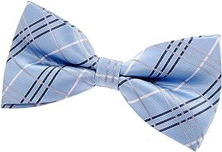"Retreez Tartan Plaid Check Styles Woven Microfiber Pre-tied Bow Tie (5"")"