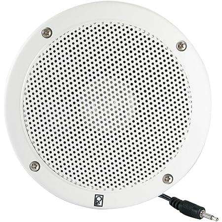 "Poly-Planar External Speaker, 6"" Round, White"