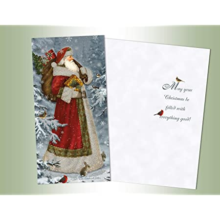 Christmas Card-Christmas Cards 50pk Dazzling Ornaments