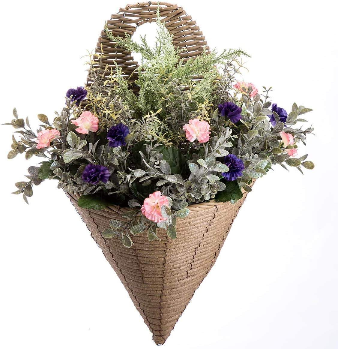 Special sale item OakRidge Morning Glory Wall Hanging Fresno Mall Flower Ar Basket Artificial