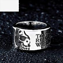 Vintage titanium stalen ring heren half gezicht sc...