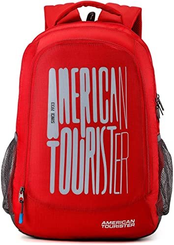 American Tourister 49.5 cms Red Casual Backpack (AMT FIZZ SCH BAG 03 - RED)
