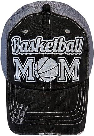White Glitter Sports Mom Series Grey Trucker Baseball Cap